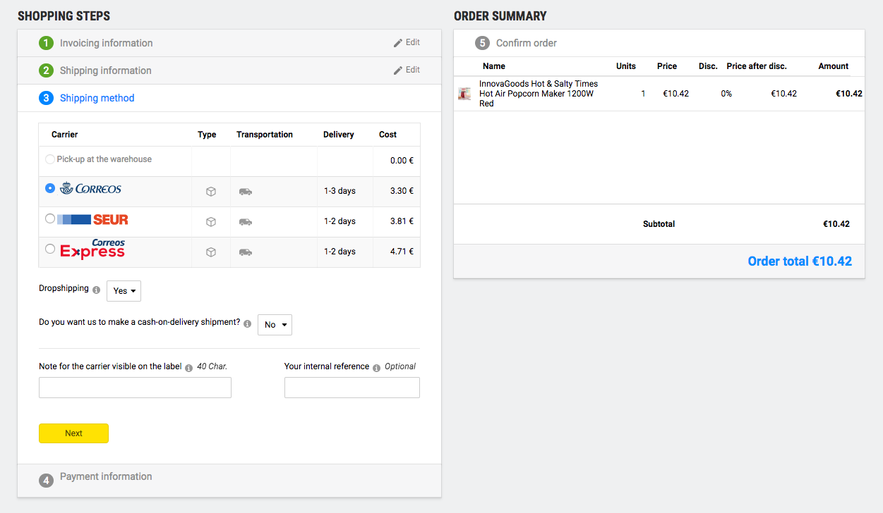How to manage orders pending validation and performed