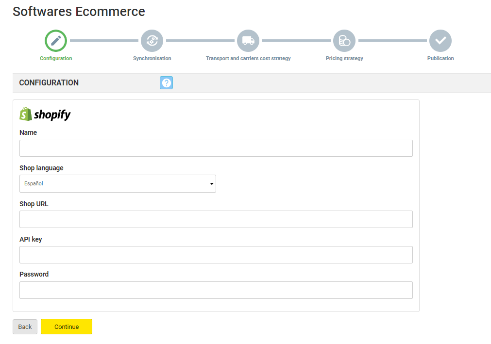 How to synchronise Shopify through the Multi-Channel
