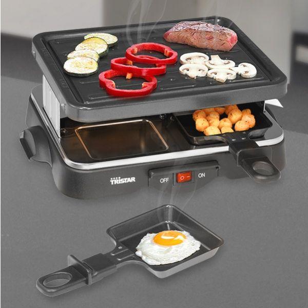 tristar ra 2949 raclette grill f r 4 personen. Black Bedroom Furniture Sets. Home Design Ideas