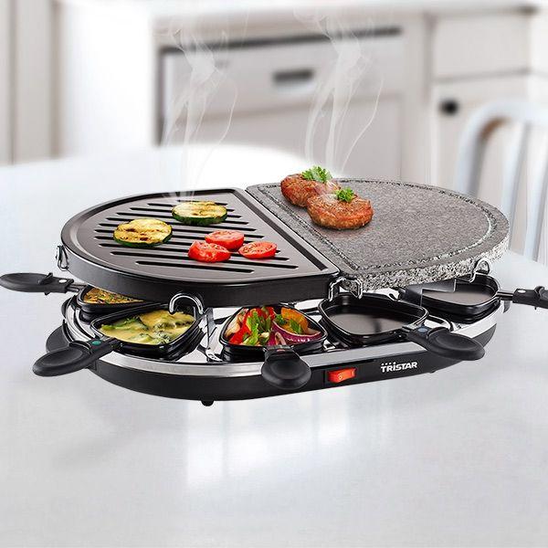 tristar ra2946 raclette grill mit stein f r 8 personen. Black Bedroom Furniture Sets. Home Design Ideas