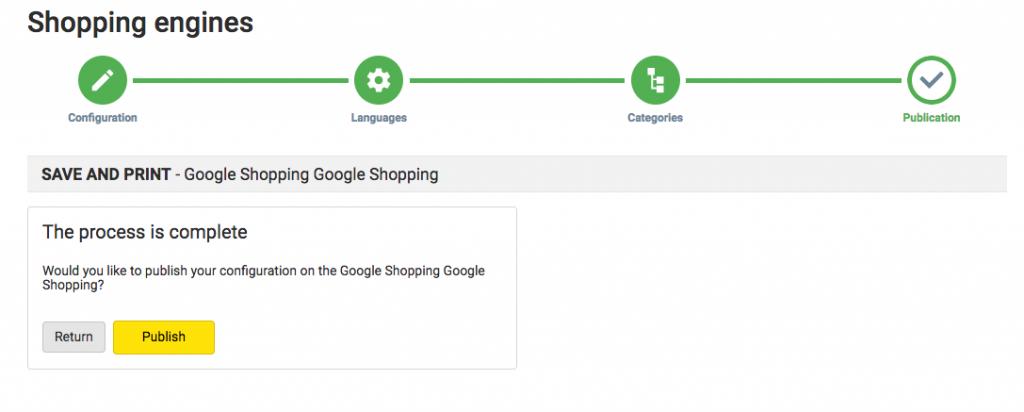 google shopping publish